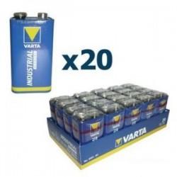 Piles 9V Industrielles X20
