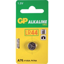 Pile bouton Alcalin A76/LR44/V13GA