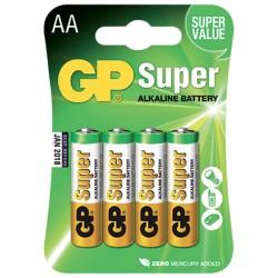 Blister de 4 piles Alcalines super AA/LR06