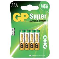Blister de 4 piles Alcalines super AAA/LR03