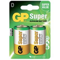 Blister de 2 piles Alcalines SUPER D/LR20